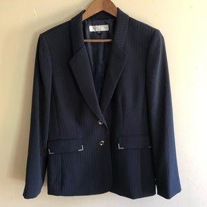 Tahari Petite Pinstripe Embellished Blazer